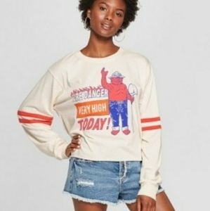 Mighty Fine juniors cropped tee long sleeve